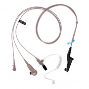 PMLN6124 Sluchátko do ucha s zvukovodem, samostatný mikrofon a PTT Impres pro Motorola DP4000 radiostanice