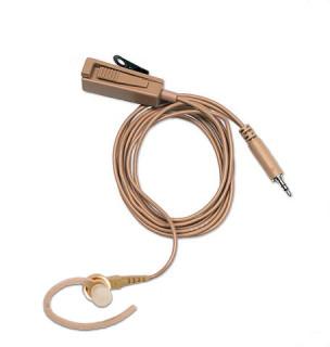 BDN6667 Sluchátko do ucha, samostatný mikrofon s PTT