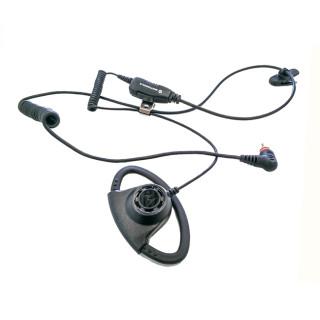 PMLN7159 D-shell sluchátko na ucho, mikrofon s PTT pro radiostanice Motorola SL1600 a SL4000