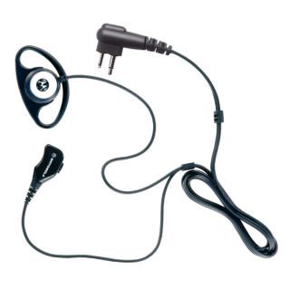 PMLN5001 Sluchátko D-shell na ucho, samostatný mikrofon s PTT pro radiostanice Motorola