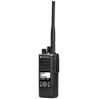 Motorola DP4400 VHF - digitální radiostanice - pohled z boku